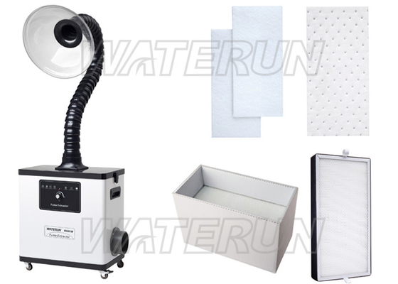 80W Salon Beauty Nail Fume Extractor , 55 dB Fume Extractor System